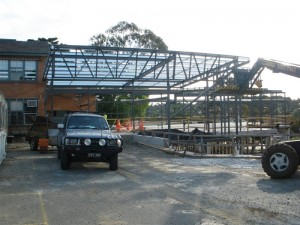 steel frame work