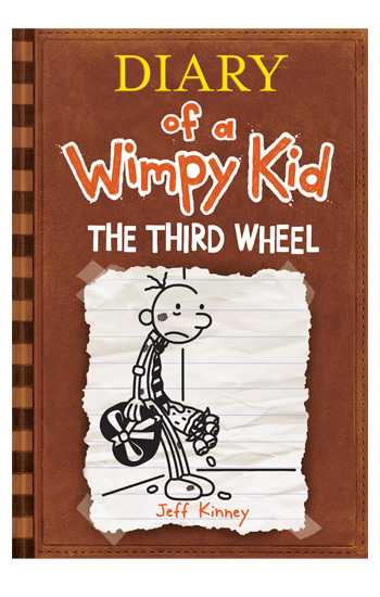 diary of a wimpy kid the third wheel book